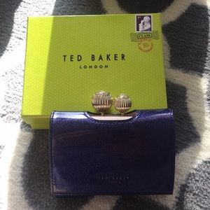 Ted Baker Purple Glitter Patent Leather Wallet